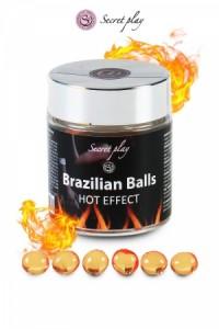 Boules Brésiliennes Effet Chauffant par 6 Secret Play IM#73579