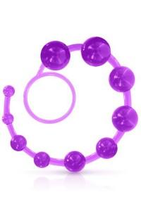 Chapelet Anal 30cm Souple violet Glamy