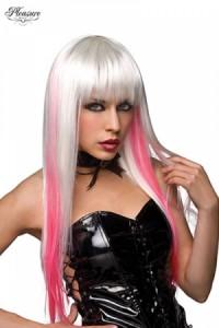 Perruque Longue Blanche et Rose World Wigs
