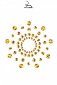 Bijoux de Seins Nipples Tétons Perles dorés Bijoux Indiscrets IM#77467