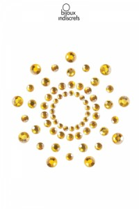 Bijoux de Seins Nipples Tétons Perles dorés Bijoux Indiscrets