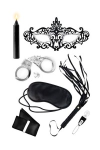 Coffret Ensemble Fétichiste Initiation Domination Soumission Bdsm SM Sweet Caress IM#77822