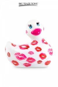 Mini Canard Vibrant Romance Blanc et Rose Big Teaze Toys
