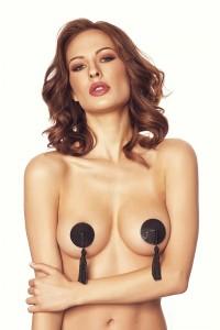 Nipples Cache Tétons Pompons Noir Fabi Anais Anais IM#79862