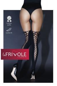 Bas Opaque Noir Dos Lacé Le Frivole IM#81424