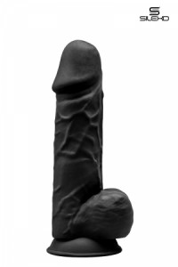 Gode Double Densité Noir 21,5 cm SilexD IM#81485