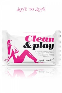 Clean & Play - Pack Lingettes Nettoyantes Sextoys