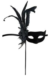 Masque Loup Orfeo Noir Maskarade