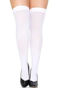 Bas Autofixants Grande Taille Blanc Opaque Music Legs