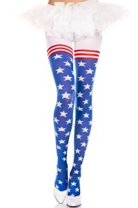 Collant Drapeau Américain UsA Music Legs