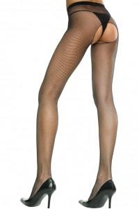 Collant Ouvert Sexy Noir Fine Résille Music Legs IM#83449