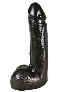 Gode Réaliste Noir Large 19 x 5 cm Belgo-Prism