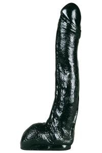 Gode Géant Pénis Long Noir 28,5 cm x 5,5 cm Belgo-Prism