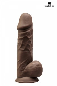 Gode Double Densité Chocolat 21,5 cm SilexD