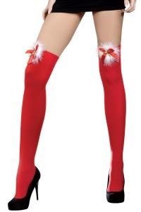 Bas Rouge Sexy Mère Noël Coquine