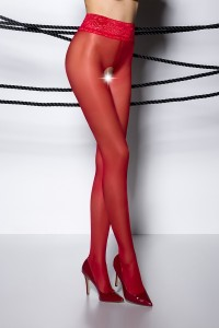 Collants Ouverts Rouge Passion bas et collants