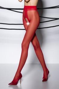 Collants Ouverts Rouge TI007 Passion bas et collants