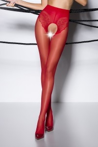 Collants Sexy Chic Ouverts Rouge Passion bas et collants