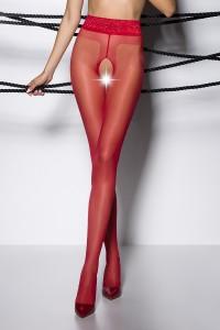 Collants Ouverts Rouge TI001 Passion bas et collants