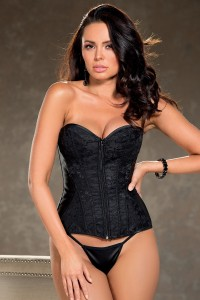 Corset Taille 38 Bustier Dentelle et Zip Shirley Of Hollywood