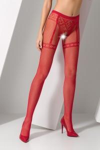 Collants Ouverts Illusion Porte Jarretelles Culotte Rouge Passion bodystockings
