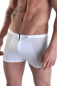 Boxer blanc avec double zip Wiz