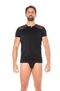 T-Shirt Noir Rayé Opaque et Transparent LOOK ME