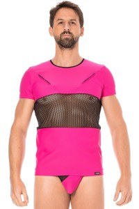 T-Shirt Magenta Filet LOOK ME