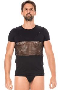 T-shirt Homme Filet Noir LOOK ME