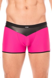 Boxer Magenta Simili Cuir Brillant LookMe