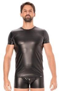 T-shirt Simili Cuir Noir LookMe