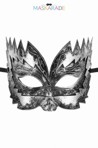Masque Argenté Semi Rigide Don Giovanni Maskarade
