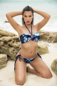 Maillot de Bain Bikini Bleu Hawai 2 Pièces Mapalé