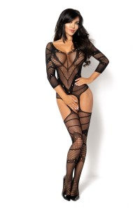 Combinaison BodyStocking Sexy Manches Longues Esmeralda Beauty Night