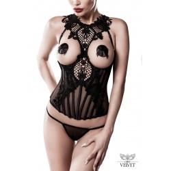 Bustier Seins Nus Dentelle Sexy Chic et String