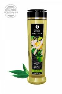 Huile Massage Bio Thé Vert Exotique Shunga Shunga