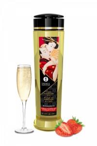 Huile Massage Parfum Fraise & Vin Pétillant Shunga Shunga
