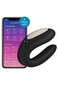 Stimulateur Noir Connecté Double Joy Satisfyer Satisfyer