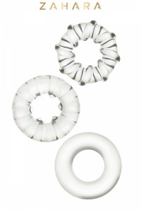 Lot 3 Cockrings Strech Rings Clear Zahara
