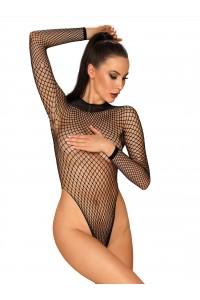 Body String Dos Nu Grande Résille Noir Obsessive